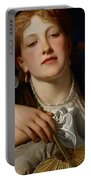 I Know A Maiden Fair To See Portable Battery Charger by Charles Edward Perugini