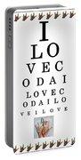 I Love Coda Eye Chart Portable Battery Charger