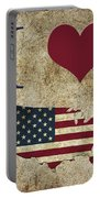 I Love Usa Grunge Texture Portable Battery Charger