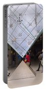 I M Pei Pyramid Inside The Louvre Entrance Portable Battery Charger