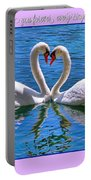 I Promise To Love You Poster By Diana Sainz Portable Battery Charger