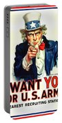 I Want You For U S Army Portable Battery Charger