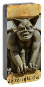 I Was Made To Rule Gargoyle Santa Cruz California Portable Battery Charger