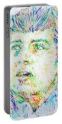 Ian Curtis Portrait Portable Battery Charger