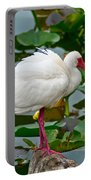 Ibis In Pond Portable Battery Charger