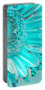 Ice Blue Portable Battery Charger by Carol Lynch