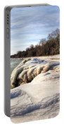 Ice Covered Shores Of Lake Michigan Portable Battery Charger