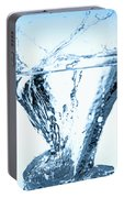 Ice Cube Splashing Into Water Portable Battery Charger