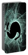 Ice Fractal Friesian Portable Battery Charger