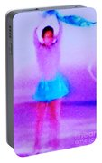 Ice Skater Abstract Portable Battery Charger