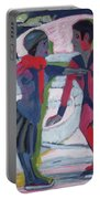 Ice Skaters  Portable Battery Charger by Ernst Ludwig Kirchner