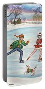 Ice Skaters Portable Battery Charger