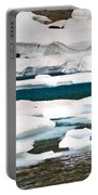 Icebergs In August Glacier International Peace Park Portable Battery Charger