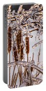 Icy Cattails Portable Battery Charger