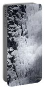 Icy Cliff - Black And White Portable Battery Charger
