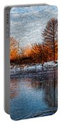 Icy Reflections At Sunrise - Lake Ontario Impressions Portable Battery Charger