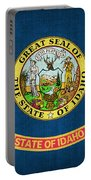 Idaho State Flag Portable Battery Charger by Pixel Chimp
