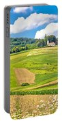 Idyllic Agricultural Landscape Panoramic View Portable Battery Charger