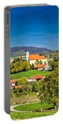 Idyllic Green Nature Of Croatian Village Of Glogovnica Portable Battery Charger