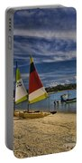 Idyllic Thai Beach Scene Portable Battery Charger