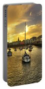Ilfracombe Harbour At Dusk  Portable Battery Charger