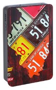 Illinois License Plate Map Portable Battery Charger