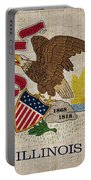 Illinois State Flag Portable Battery Charger