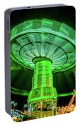 Illuminated Fair Ride With Blurred Neon Portable Battery Charger