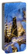 Illuminated Icicles At Sunset Portable Battery Charger