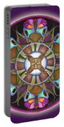 Illusion Of Self Mandala Portable Battery Charger