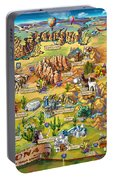 Illustrated Map Of Arizona Portable Battery Charger
