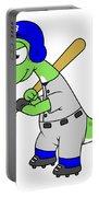 Illustration Of A Brontosaurus Baseball Portable Battery Charger