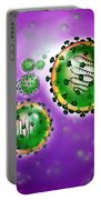 Illustration Of Sars Virus Portable Battery Charger by Jim Dowdalls