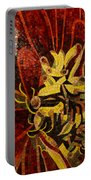Imagination In Reds And Yellows Portable Battery Charger