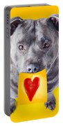 Imploring Staffie With A Sticky Note On His Mouth Portable Battery Charger