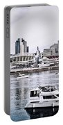 Implosion Of River Front Stadium Portable Battery Charger