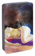 Impressionism Of Reclining Nude Portable Battery Charger