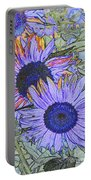 Impressionism Sunflowers Portable Battery Charger