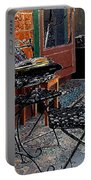 Impressionism The Looney Bean Cafe  Portable Battery Charger