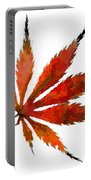 Impressionist Japanese Maple Leaf Portable Battery Charger
