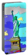 Impressionist Statue Of Liberty Portable Battery Charger