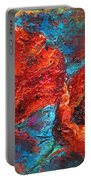 Impressionistic Red Poppies Portable Battery Charger
