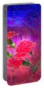 Impressions Of Pink Carnations Portable Battery Charger by Joyce Dickens