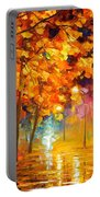 Improvisation Of Trees - Palette Knife Oil Painting On Canvas By Leonid Afremov Portable Battery Charger