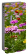 In A Field Of Flowers Portable Battery Charger