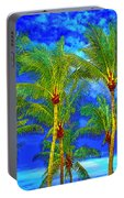 In A World Of Palms Portable Battery Charger