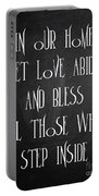 In Our Home Let Love Abide Portable Battery Charger