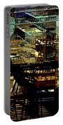 In Perspective - Fire Escapes - Old Buildings Of New York City Portable Battery Charger