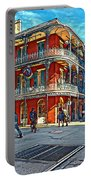In The French Quarter Painted Portable Battery Charger