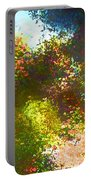 In The Garden Portable Battery Charger by Pamela Cooper